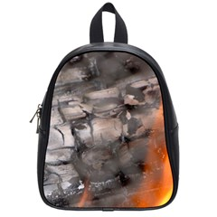 Fireplace Flame Burn Firewood School Bag (small) by Nexatart