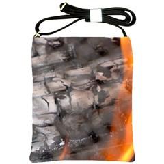 Fireplace Flame Burn Firewood Shoulder Sling Bags by Nexatart