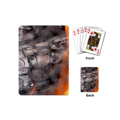 Fireplace Flame Burn Firewood Playing Cards (mini)  by Nexatart