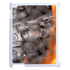 Fireplace Flame Burn Firewood Apple Ipad 2 Case (white) by Nexatart