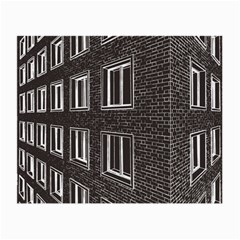 Graphics House Brick Brick Wall Small Glasses Cloth by Nexatart