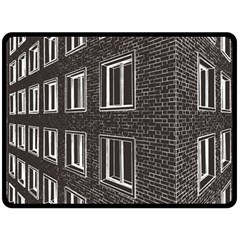 Graphics House Brick Brick Wall Double Sided Fleece Blanket (large)  by Nexatart