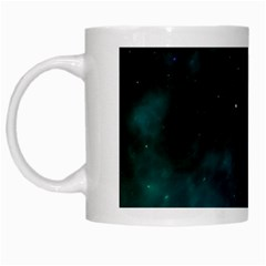 Space All Universe Cosmos Galaxy White Mugs by Nexatart