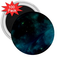 Space All Universe Cosmos Galaxy 3  Magnets (100 Pack) by Nexatart