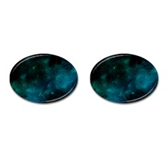 Space All Universe Cosmos Galaxy Cufflinks (oval) by Nexatart