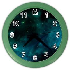 Space All Universe Cosmos Galaxy Color Wall Clocks by Nexatart