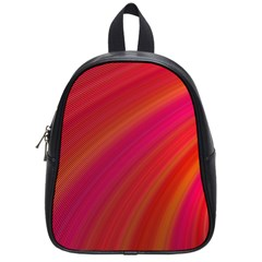 Abstract Red Background Fractal School Bag (small) by Nexatart