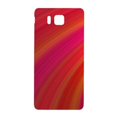 Abstract Red Background Fractal Samsung Galaxy Alpha Hardshell Back Case by Nexatart