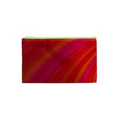 Abstract Red Background Fractal Cosmetic Bag (xs) by Nexatart
