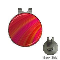 Abstract Red Background Fractal Hat Clips With Golf Markers by Nexatart