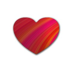 Abstract Red Background Fractal Rubber Coaster (heart)  by Nexatart