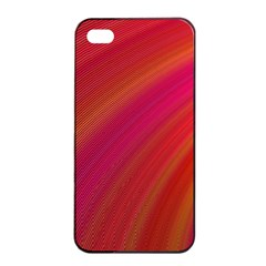 Abstract Red Background Fractal Apple Iphone 4/4s Seamless Case (black) by Nexatart