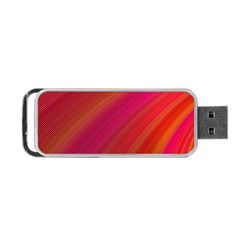 Abstract Red Background Fractal Portable Usb Flash (two Sides) by Nexatart