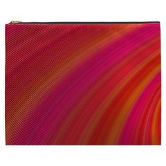 Abstract Red Background Fractal Cosmetic Bag (xxxl)  by Nexatart