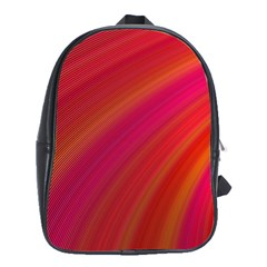 Abstract Red Background Fractal School Bag (xl) by Nexatart