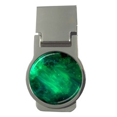 Green Space All Universe Cosmos Galaxy Money Clips (round)  by Nexatart