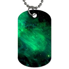 Green Space All Universe Cosmos Galaxy Dog Tag (two Sides)
