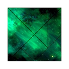 Green Space All Universe Cosmos Galaxy Acrylic Tangram Puzzle (6  X 6 ) by Nexatart