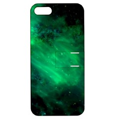 Green Space All Universe Cosmos Galaxy Apple Iphone 5 Hardshell Case With Stand by Nexatart
