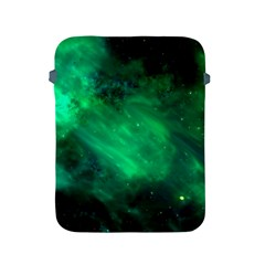 Green Space All Universe Cosmos Galaxy Apple Ipad 2/3/4 Protective Soft Cases by Nexatart