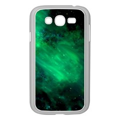 Green Space All Universe Cosmos Galaxy Samsung Galaxy Grand Duos I9082 Case (white) by Nexatart
