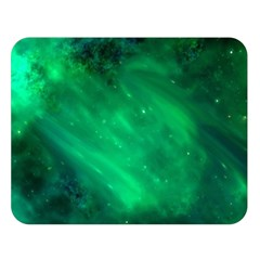 Green Space All Universe Cosmos Galaxy Double Sided Flano Blanket (large)  by Nexatart