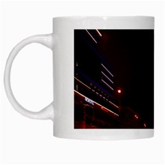Moscow Night Lights Evening City White Mugs by Nexatart