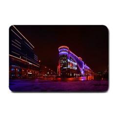 Moscow Night Lights Evening City Small Doormat  by Nexatart