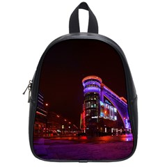 Moscow Night Lights Evening City School Bag (small) by Nexatart