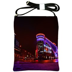 Moscow Night Lights Evening City Shoulder Sling Bags by Nexatart