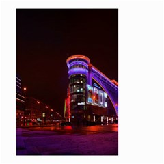 Moscow Night Lights Evening City Small Garden Flag (two Sides) by Nexatart