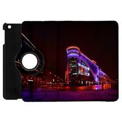 Moscow Night Lights Evening City Apple Ipad Mini Flip 360 Case by Nexatart
