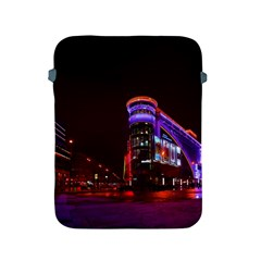 Moscow Night Lights Evening City Apple Ipad 2/3/4 Protective Soft Cases by Nexatart