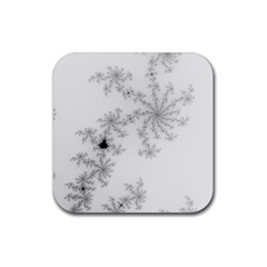 Mandelbrot Apple Males Mathematics Rubber Square Coaster (4 Pack)  by Nexatart