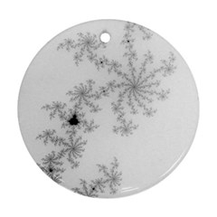 Mandelbrot Apple Males Mathematics Round Ornament (two Sides) by Nexatart