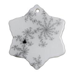 Mandelbrot Apple Males Mathematics Snowflake Ornament (two Sides) by Nexatart