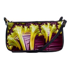 Yellow Magenta Abstract Fractal Shoulder Clutch Bags by Nexatart