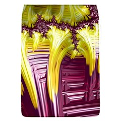Yellow Magenta Abstract Fractal Flap Covers (s)  by Nexatart