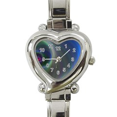 Gloom Background Abstract Dim Heart Italian Charm Watch by Nexatart