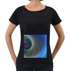 Gloom Background Abstract Dim Women s Loose Fit T Shirt (black) by Nexatart