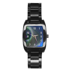 Gloom Background Abstract Dim Stainless Steel Barrel Watch by Nexatart