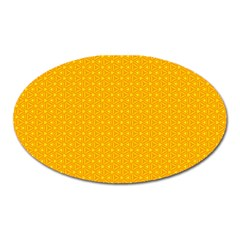 Texture Background Pattern Oval Magnet by Nexatart