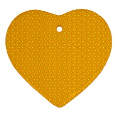 Texture Background Pattern Heart Ornament (two Sides) by Nexatart