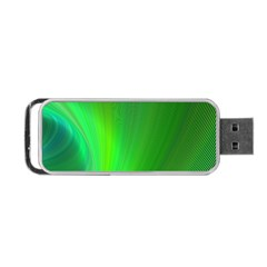 Green Background Abstract Color Portable Usb Flash (two Sides) by Nexatart