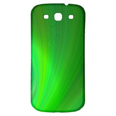 Green Background Abstract Color Samsung Galaxy S3 S Iii Classic Hardshell Back Case by Nexatart