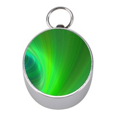 Green Background Abstract Color Mini Silver Compasses by Nexatart