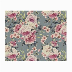 Pink Flower Seamless Design Floral Small Glasses Cloth by Nexatart