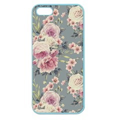 Pink Flower Seamless Design Floral Apple Seamless Iphone 5 Case (color) by Nexatart