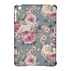 Pink Flower Seamless Design Floral Apple Ipad Mini Hardshell Case (compatible With Smart Cover) by Nexatart