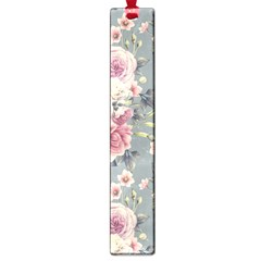 Pink Flower Seamless Design Floral Large Book Marks by Nexatart